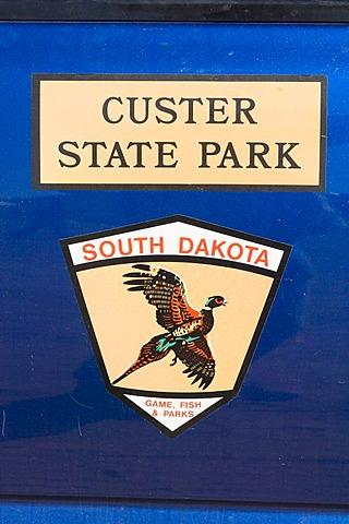 Logo of Custer State Park, Black Hills, South Dakota, USA, America