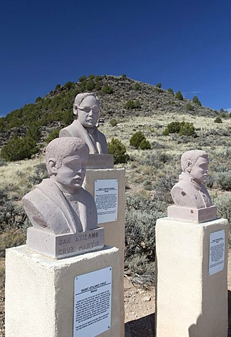 A memorial to Mexican priests who were martyred during the Cristero rebellion in Mexico in the late 1920s, San Luis, Colorado, USA