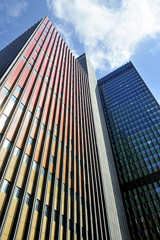 Former headquarters of Deutsche Welle, Germany's international broadcaster, office tower and studio tower, Raderbergguertel, Cologne, North Rhine-Westphalia, Germany, Europe