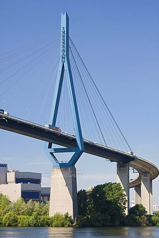 Koehlbrandbruecke bridge, Hamburg, Germany, Europe