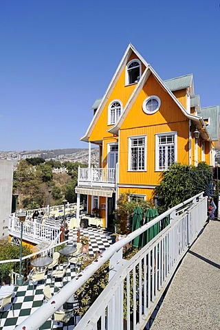Brighton Hotel, restaurant, Valparaiso, Chile, South America