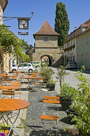 Einersheimer Tor gate, Iphofen, Lower Franconia, Bavaria, Germany, Europe