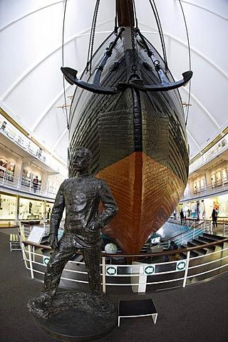 Statue of Fridtjof Nansen in front of the Fram, Fram Museum, Oslo, Norway, Europe