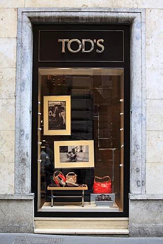 Tod's fashion store, Via Condotti, Rome, Italy, Europe