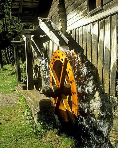 Mill, Techendorf Village, Weissensee, Carinthia, Austria, Europe