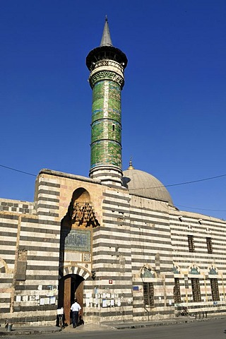 Historic minaret and mosque in the historic town of Damascus, Unesco World Heritage Site, Syria, Middle East, West Asia
