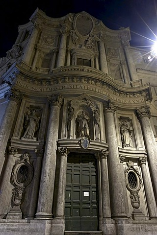 The tiny church San Carlo alle Quattro Fontane, better known as San Carlino, Rome, Latium, Italy, Europe