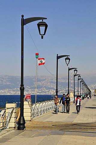 Street scene, Corniche, Beirut, Lebanon, Middle East, Asia