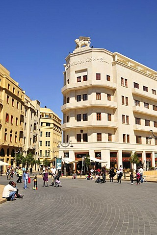 Street scene on the Place d'Etoile, Beirut, Lebanon, Middle East, Orient