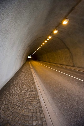 The tunnel of the Rappbode-Talsperre reservoir, Harz, Saxony-Anhalt, Germany, Europe