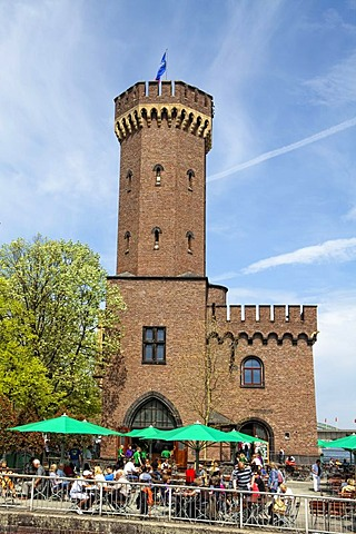 The Malakoff tower on Rheinau port, Cologne, North Rhine-Westphalia, Germany, Europe