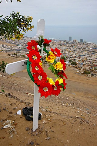 Wayside cross, Iquique, Region de Tarapaca, Chile, South America