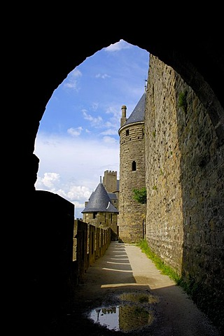 La Cite, medieval fortified town, Carcassonne, Aude, Languedoc-Roussillon, France, Europe