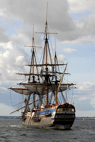 "Full scale replica East Indiaman ""Goetheborg"" in Baltic Sea"