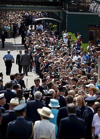 Queen Elizabeth II attending Wimbledon for the first time in 33 years, Wimbledon Championships 2010, Wimbledon, United Kingdom, Europe
