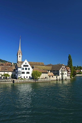View of Stein am Rhein, Lake Constance, Switzerland and Europe