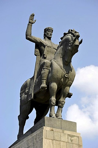 Equestrian statue, Monument of King Vakhtang Gorgasali, Avlabari district, Tbilisi, Georgia, Western Asia