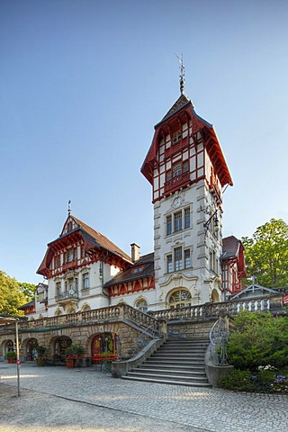Art Nouveau house in the Theresienstein municipal park, Hof, Upper Franconia, Franconia, Bavaria, Germany, Europe