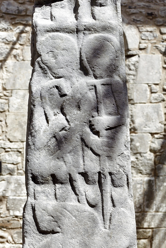 High cross, Kilfenora Cathedral, Burren, County Clare, Ireland, Europe