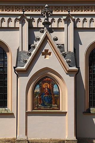 Side chapel with a Saints motif at the Parish Church of St. Nicholas, Ludwigsplatz 3, Rosenheim, Upper Bavaria, Bavaria, Germany, Europe