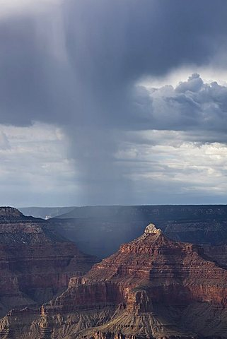 Bad weather front in the Grand Canyon National Park, Arizona, USA