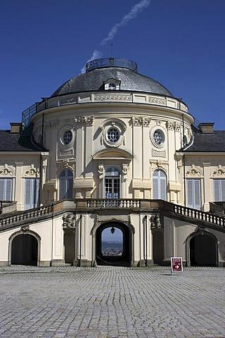 South side, Schloss Solitude Castle, Stuttgart-West, Stuttgart, Upper Swabia, Baden-Wuerttemberg, Germany, Europe