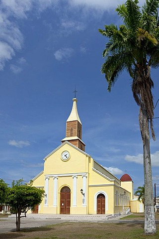 Church of Port-Louis, Grande-Terre, Guadeloupe, French Antilles, Lesser Antilles, Caribbean
