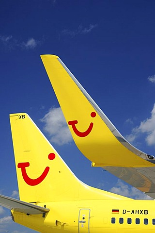 Plane, tail unit, Tui Fly, Boeing 737