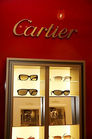 Sunglasses, Cartier shop, Munich, Bavaria, Germany, Europe - 832-155521