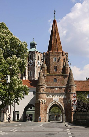 Kreuztor Gate, Ingolstadt, Bavaria, Germany, Europe