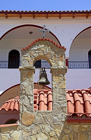 Bell tower, Moni Kalivianis convent, orphanage, girl boarding school and retirement home, Crete, Greece, Europe