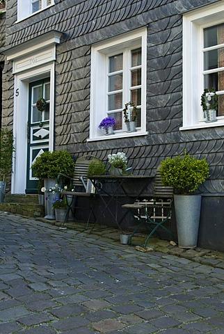 Outside autumn decoration, Graefrath, North Rhine-Westphalia, Gemany, Europe