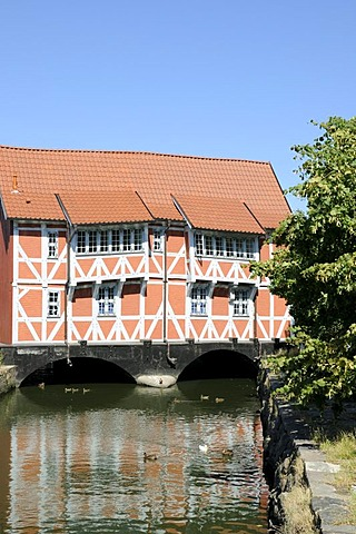 Half-timbered house, Wismar, Mecklenburg-Western Pomerania, Germany, Europe