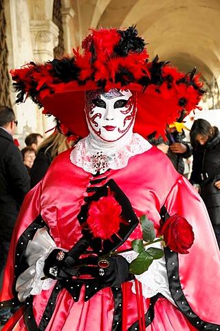 Mask, Carnevale, carnival in Venice, Veneto, Italy, Europe