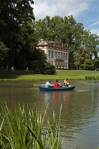 English landscape garden, Schoenbusch Park, Aschaffenburg, Bavaria, Germany, Europe