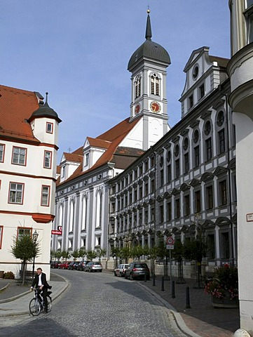 Church of the Jesuit University, old town, Dillingen an der Donau, Bavaria, Germany, Europe