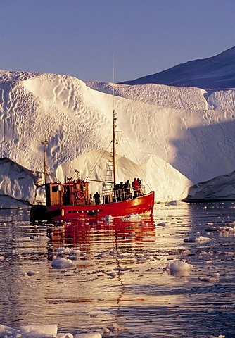 Shrimp boats in the Kangia Ice Fjord, Ilulissat, Jabobshavn, Greenland