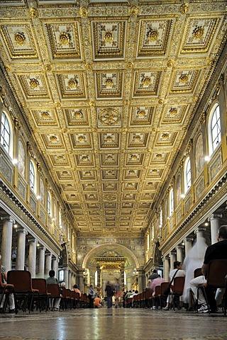 Interior view of Santa Prassede, Rome, Italy, Europe