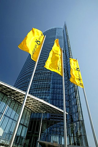 Posttower skyscraper, headquarters of the Deutsche Post AG German mail, Bonn, North Rhine-Westphalia, Germany, Europe