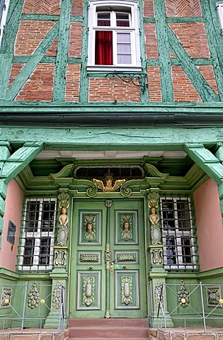 Baroque entrance, Hartwigsches house from 1720, Korbach, Hesse, Germany, Europe