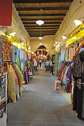 Souq al Waqif, oldest souq or bazaar of Doha, Qatar, Persian Gulf, Middle East, Asia