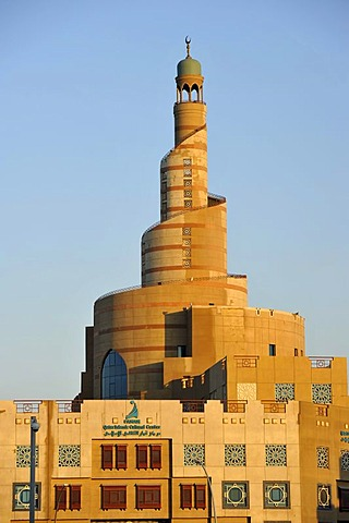 Spiraled tower of the Fanar, Qatar Islamic Cultural Center, Doha, Qatar, Persian Gulf, Middle East, Asia