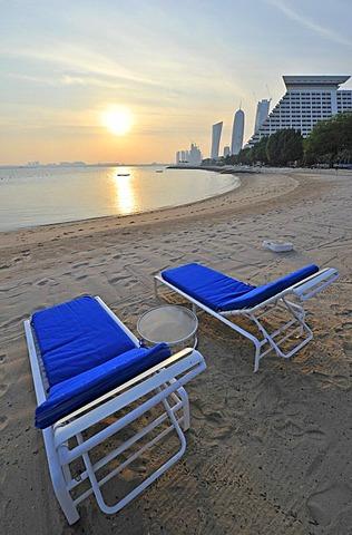 Beach, Hotel Doha Sheraton, Doha, Qatar, Persian Gulf, Middle East, Asia