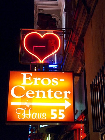 Brothel in the red light district, Frankfurt, Hesse, Germany, Europe