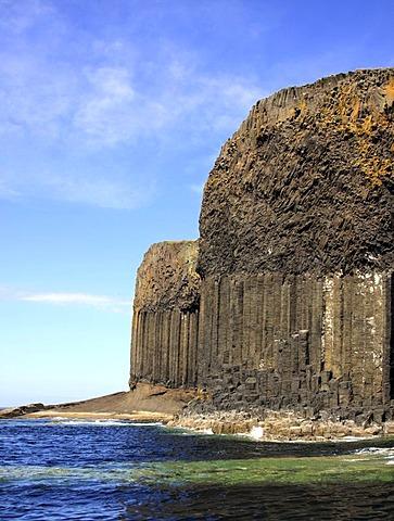 Staffa basalt island, Inner Hebrides island, Scotland, United Kingdom, Europe