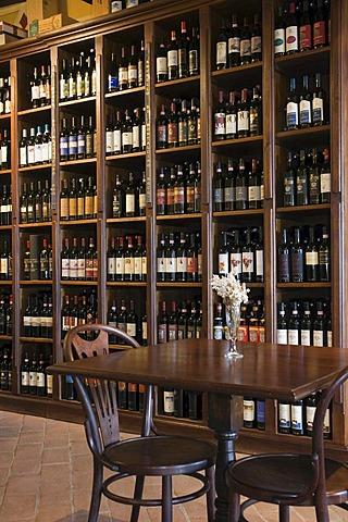 Wine shop, Osteria Enoteca Osticco, Montalcino, Tuscany, Italy, Europe