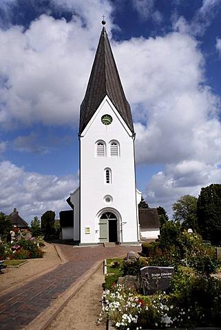 St. Clemens Church, Nebel, island of Amrum, Schleswig-Holstein, Germany, Europe