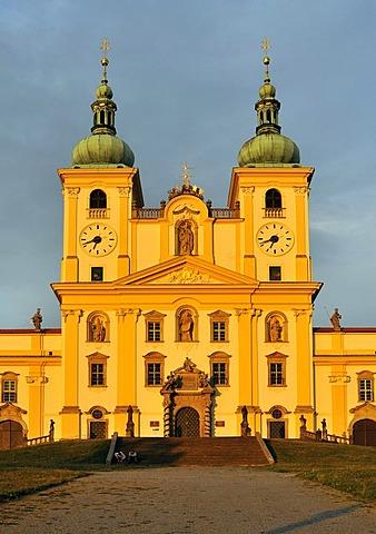 Baroque Basilica Minor, Church of Visitation of Virgin Mary, at Svaty Kopecek near Olomouc, Czech Republic, Europe