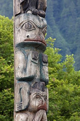Totem pole, Juneau, Southeast Alaska