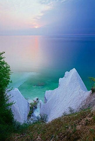 Sunrise at Wissower Klinken on Ruegen Island ,  Mecklenburg-Western Pomerania, Germany